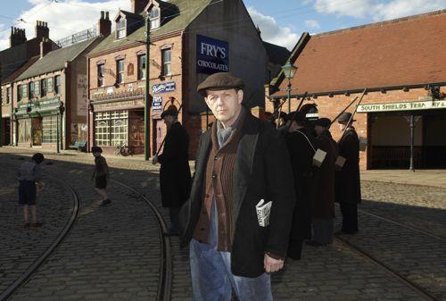 Kevin as Joe in scenes filmed at Beamish