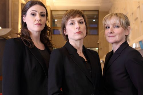 Rachel Bailey (Suranne Jones), Gill Murray (Amelia Bullmore) and Janet Scott (Lesley Sharp)