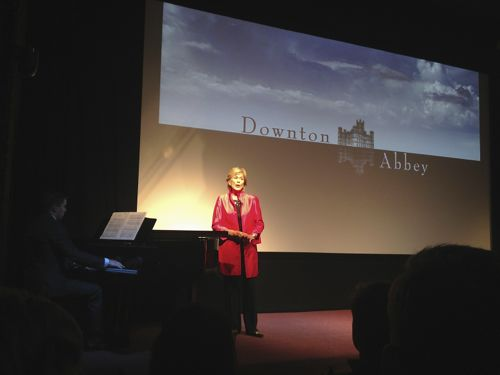 My pic of Dame Kiri singing at the launch.