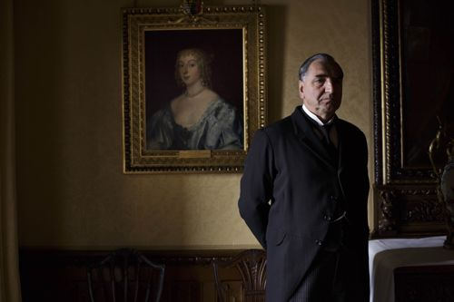 Jim Carter as Mr Carson.