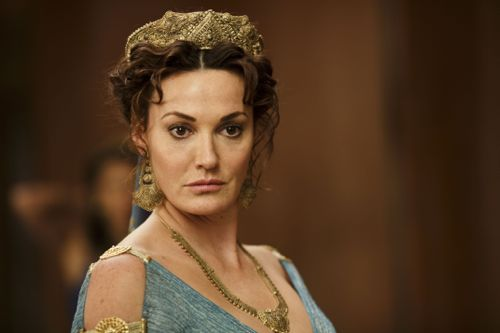 Sarah Parish as Pasiphae, Queen of Atlantis.