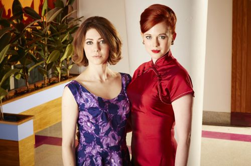 Catherine Steadman (Angela) and Zoe Boyle (Jean).
