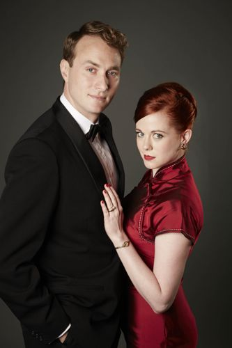 Oliver Chris and Zoe Boyle as Richard and Jean.
