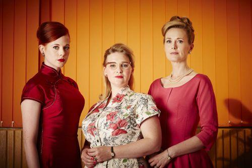 Zoe Boyle (Jean), Joanna Page (Lily), Natasha Little (Elizabeth).