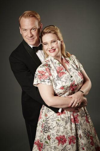 Shaun Dingwall and Joanna Page as Charlie and Lily.