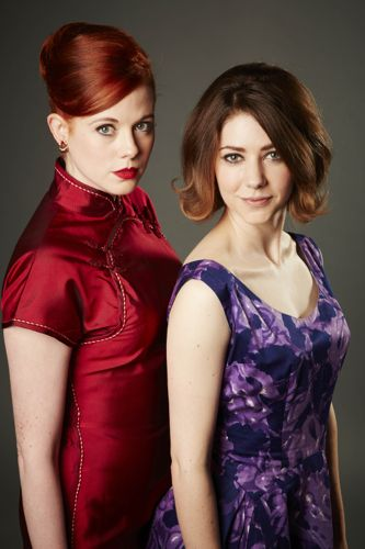 Zoe Boyle and Catherine Steadman as Jean and Angela.