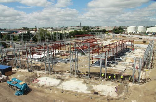 July 2 2012: The footprint of the new Street takes shape.