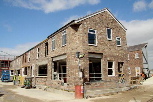 April 8 2013: The Corner Shop awaits its main windows.