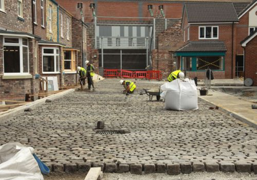 July 9 2013: The cobbles are laid.