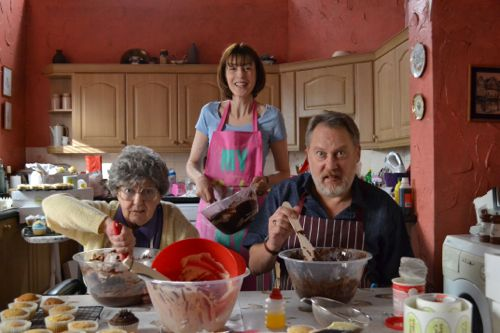 Pat Dunn (Dot), Gina McKee (Pauline) and Jim Moir (Joe).