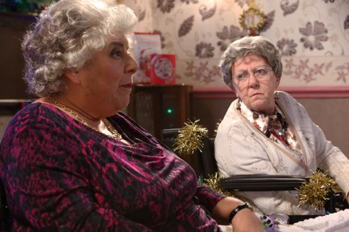 Miriam Margolyes as Millie and Pat Dunn as Dot.