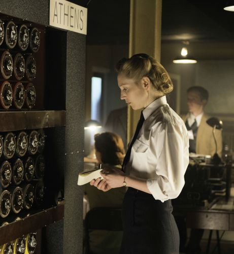 Hattie Morahan as Alice at Bletchley Park.