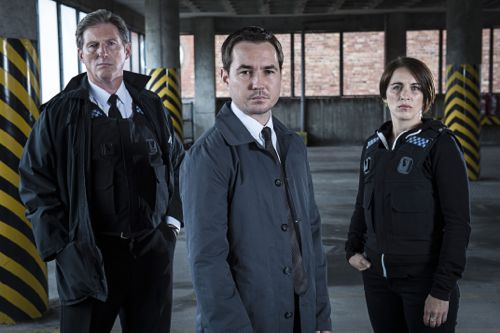 Superintendent Ted Hastings (ADRIAN DUNBAR), Detective Sergeant Steve Arnott (MARTIN COMPSTON), Detective Constable Kate Fleming (VICKY McCLURE)