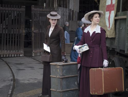 Arrival: Rosalie Berwick (MARIANNE OLDHAM), Flora Marshall (ALICE ST CLAIR)