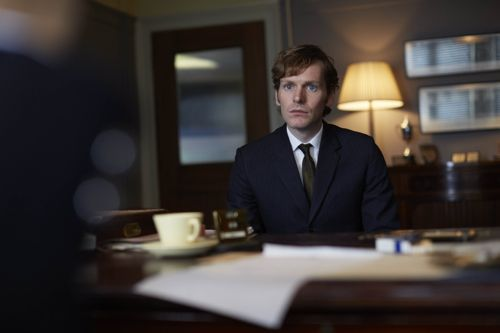 Shaun Evans as Endeavour.