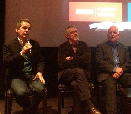 Tom Hollander, Griff Rhys Jones and Andrew Davies.