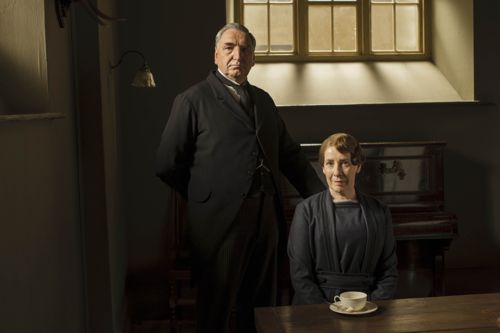 Mr Carson (Jim Carter) and Mrs Hughes (Phyllis Logan).