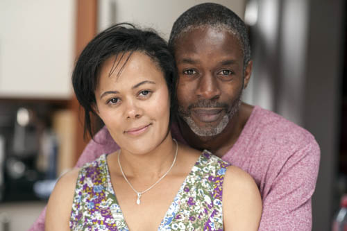 Two Brothers: Lorraine (CARLA HENRY), Peter (WIL JOHNSON).