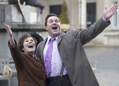 Enid and Tubby (Imelda Staunton and Michael Ball)