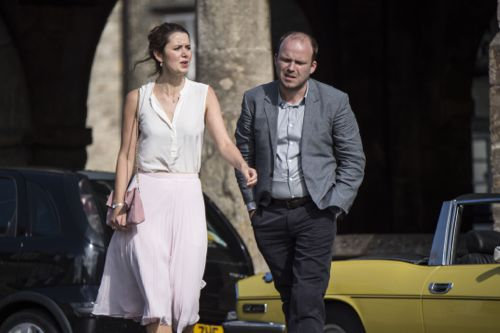 Emily Bevan and Rory Kinnear as Mary and Barry Fairbrother.