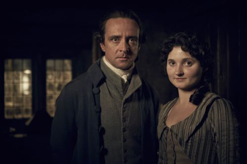 Richard Harrington as Captain Andrew Blamey and Ruby Bentall as Verity Poldark.