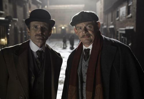 Alfred (Charles Edwards) and Arthur (Martin Clunes).