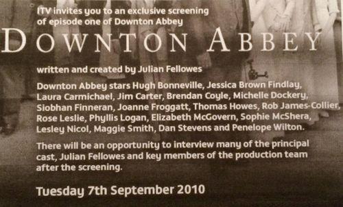 Downton Abbey 2010 invite 500