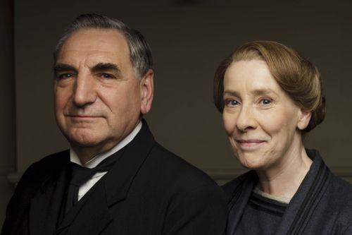 Mr Carson (Jim Carter) and Mrs Hughes (Phyllis Logan).