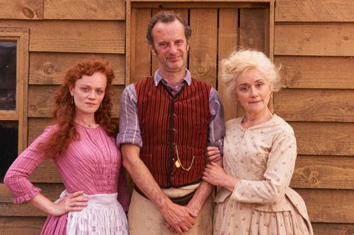 Natalie Gavin,  Phil Cornwell and Sophie Thompson as Alma, Joe and  Lizzie Capstick.