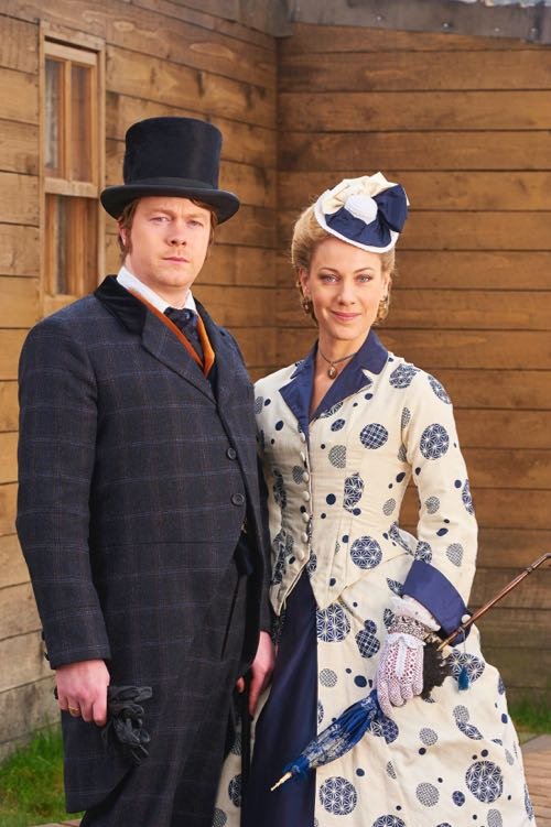 Daniel Rigby and Jeany Spark as Charles Blackwood and Isabella Lambton.