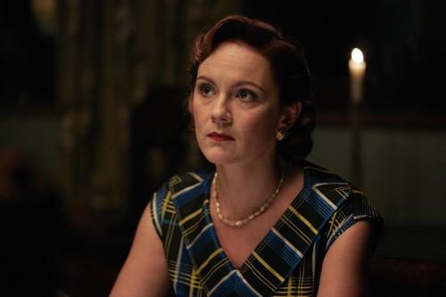 Rachael Stirling as Sarah.