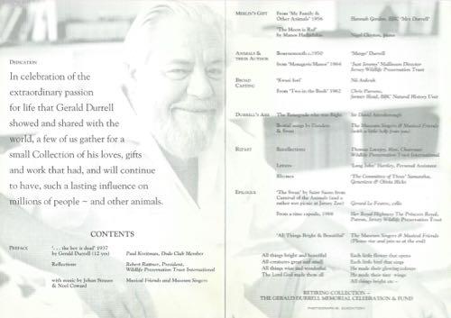 Gerald Durrell Memorial 1