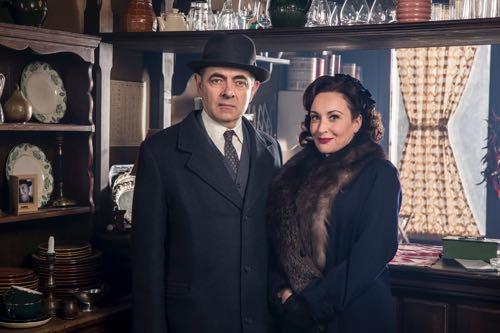 Maigret (Rowan Atkinson) and Madame Maigret (Lucy Cohu).