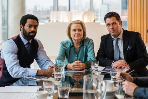 Nicholas Pinnock (Jason), Sinead Cusack (Sylvie) and Patrick Baladi (Stephen).