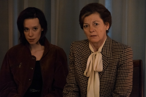 Chloe Pirrie as Hellie and Pippa Haywood as Bunny.